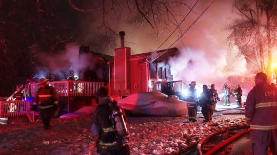 Lake Carmel firefighters with help from several neighboring Putnam County departments battled a stubborn early morning house fire on Chappaqua Road in the Lake Carmel section of Kent on Dec. 3, 2019. Michael Malone and his family had gotten out just before the house was engulfed in flames.