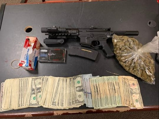 Daniel Le, 19, was arrested early Saturday morning after he was found with a gun, marijuana and $2,500 in cash.