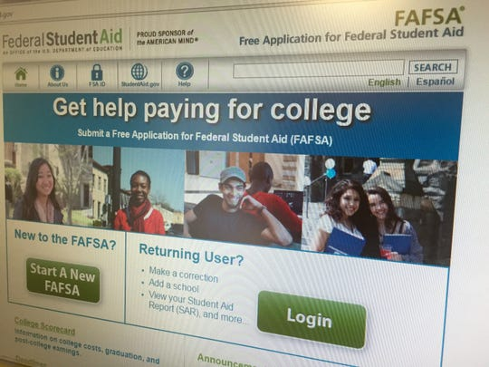 Website for the Free Application for Federal Student Aid