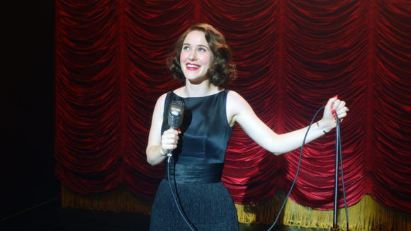 "Rachel Brosnahan as Midge Maisel on ""The Marvelous Mrs. Maisel."""