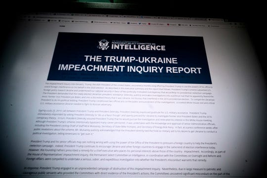 House Intelligence Committee impeachment report released Dec. 3, 2019.