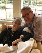 Chris Bradley, left, and his husband Jason Bradley-Krauss on Thanksgiving Day in 2017.