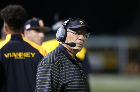 Joe Martucci is no longer the head football coach at St. John Vianney High School, the school announced Wednesday morning.