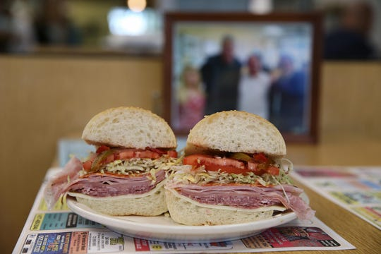 The No. 4 sandwich from Frank's Deli in Asbury Park, which is open for takeout.