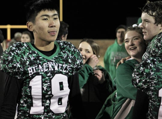 Mickey Toasaksiri (18) is a sophomore kicker on the record-setting Blackwell Hornets football team.