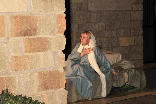 Susan Coker portrays Mary in a previous presentation of Journey to Bethlehem at Zion Lutheran Church. This year, the treks begin at 5:30 p.m. Saturday.