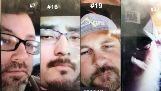 Police are asking for the public's help in identifying these four men in connection with a human trafficking and prostitution investigation.