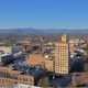 A view from a high-resolution camera installed atop the Buncombe County Courthouse.