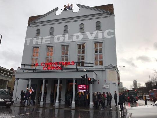 "The Old Vic in London, pictured on Dec. 13, 2017, produces its own adaptation of ""A Christmas Carol"" annually."
