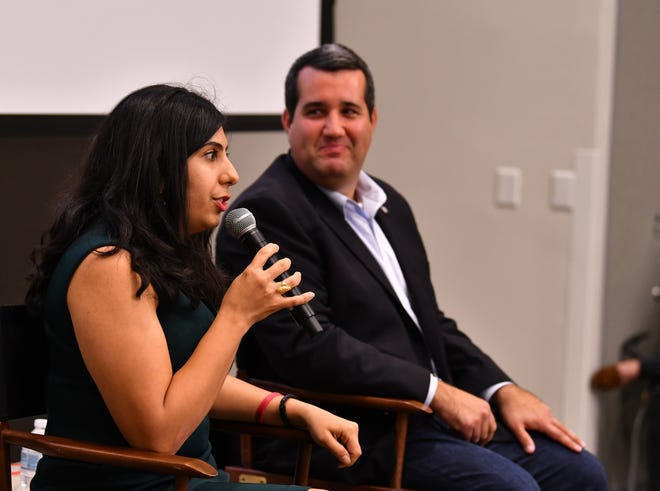 Florida Reps. Anna Eskamani, D-Orlando, and Tyler Sirois, R-Merritt Island, discussed a variety of legislative issues at Tuesday night's Civility Brevard forum in Rockledge.
