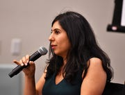 State Rep. Anna Eskamani, D-Orlando, at a recent town hall in Rockledge.