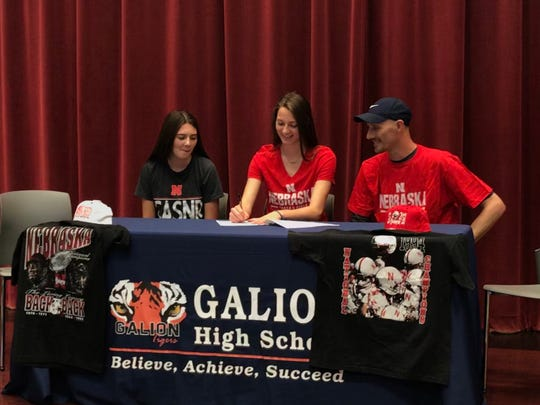 Galion's Kerrigan Myers signs her letter of intent to attend the University of Nebraska for track and field.