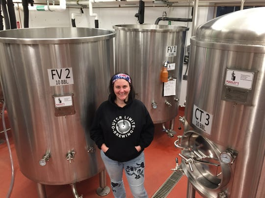 Taylor Shaw, co-owner of Outer Limits Brewing in Proctorsville, stands at the brewery Nov. 30, 2019.