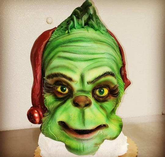 Does someone have a heart three sizes too small? Give them a Grinch cake from DiBartolo Bakery in Collingswood.