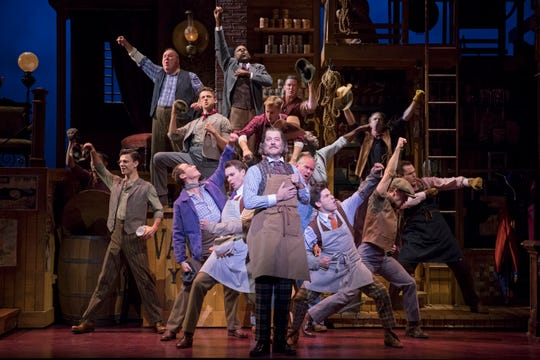 """John Bolton (center) co-stars as Horace Vandergelder in the National Tour Company of """"Hello, Dolly!,"""" playing at the Aronoff Center until Dec. 15."""