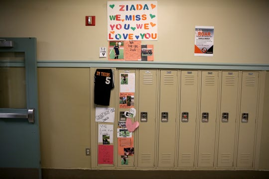 Students at Withrow High School decorated Ziada Berhane's locker after she died suddenly at age 17 in October. Ziada died as a result of disseminated intravascular coagulation due to a cardiac arrhythmia, according to the Hamilton County Coroner's office.