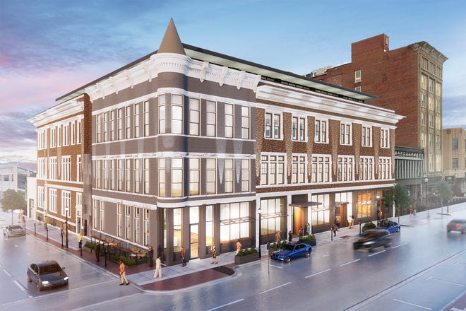 A historic corner in Covington will be redeveloped into a mixed-use space.