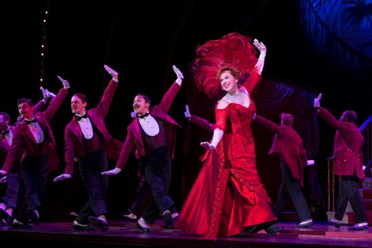 """Carolee Carmello plays the leading role of Dolly Levi in the National Tour of """"Hello, Dolly!"""" She's seen here in """"The Waiter's Gallop,"""" one of the most memorable musical numbers in a show filled with them."""