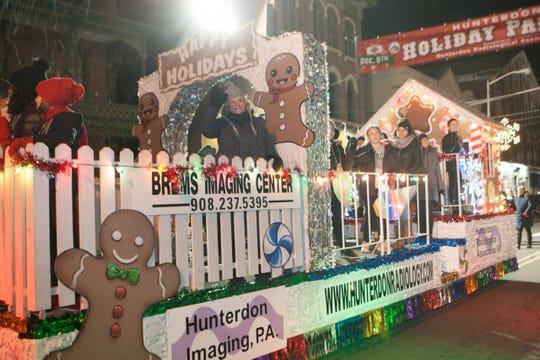 The annual Hunterdon Holiday parade will be held Sunday evening on Main Street in Flemington.