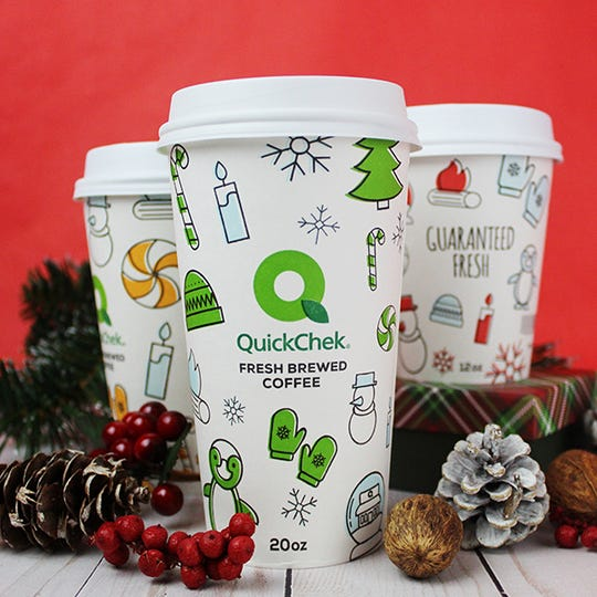 The Readington-based QuickChek convenience store chain is celebrating the 10th anniversary of Kris Kringle, its most popular limited-edition premium ground coffee. First-time users who download the QuickChek mobile app at quickchek.com can enjoy a cup of fresh-brewed hot or iced coffee for free.The chain also recommends bags or boxes of the ground coffee as stocking stuffers.