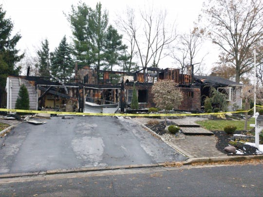 A house at 55 Walker Ave., Edison was destroyed in an early morning Wednesday fire