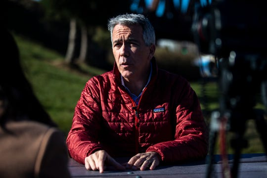 Republican Presidential Candidate Joe Walsh gives an interview to the Des Moines Register on Tuesday, Dec. 3, 2019, in Davenport.