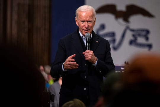 Former Vice President Joe Biden, pictured speaking in Ames, Iowa last week, was endorsed by Tennessee State Sen. Raumesh Akbari. Shelby County Mayor Lee Harris has also endorsed Biden.