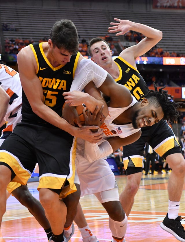 Photos Iowa Basketball Takes On Syracuse In The Carrier Dome