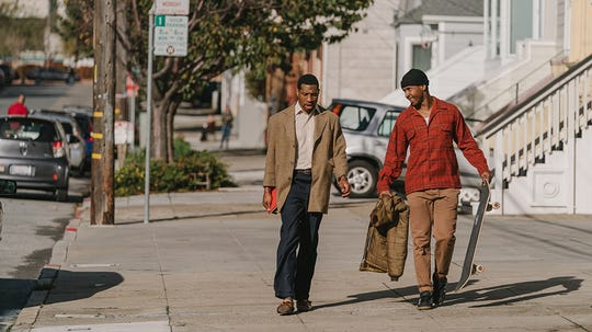 "Jimmie Fails and Jonathan Majors in ""The Last Black Man In San Francisco."""