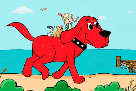 """This image released by  shows a scene from the reboot of  """"Clifford the Big Red Dog."""""""