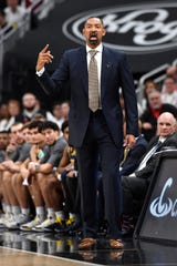 """""""Our defense was rock solid,"""" says Michigan head coach Juwan Howard about his team's performance against top-ranked Louisville."""