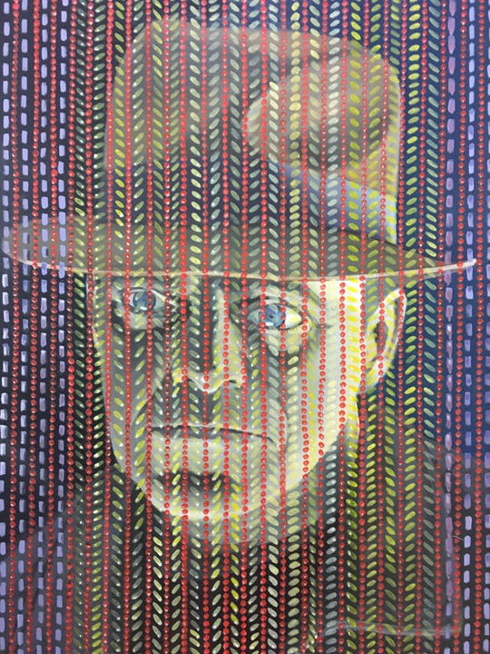 """Ferndale artist Jud Coveyou's """"Maughmie Dearest"""" at Ferndale Area District Library through Dec. 15."""