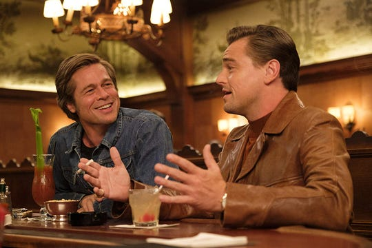 "Brad Pitt and Leonardo DiCaprio in ""Once Upon a Time... in Hollywood."""