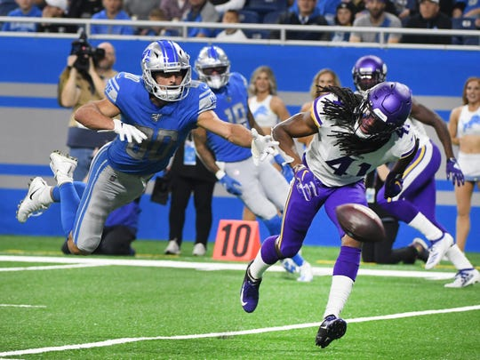 The Lions take on the Vikings on Sunday in Minneapolis.