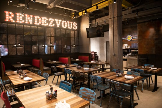 This is the Rendezvous dinning area inside Buddy's Pizza's new downtown restaurant inside the Madison Building.