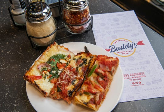 Buddy's Pizza offers a number of specialty pizzas, including the Greektown, the Belle Isle and the Six Mile.