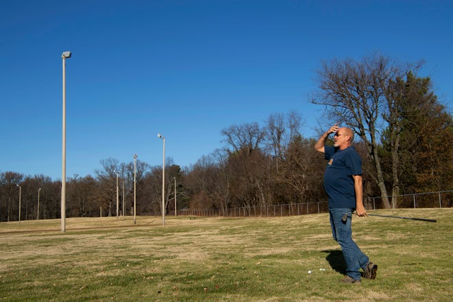 Chris Stratman of Evansville has been golfing at Wesselman Par 3 golf course since the late 70s and will be sad to see the course closed by the city. Stratman said he and his friends golfed at night when the lights from the many concrete light poles were still working.