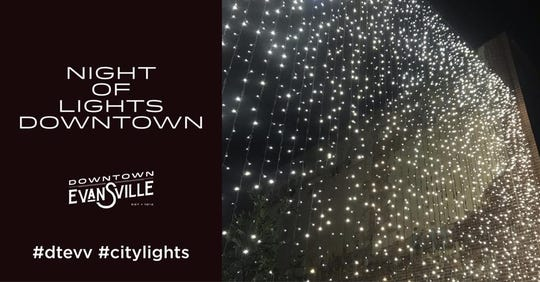 New this year is a wall of lights in Downtown Evansville. To celebrate, the city is hosting Night of Lights Downtown Saturday.