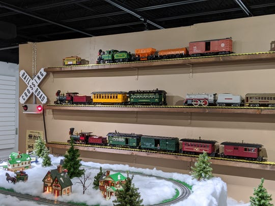 Model trains take over exhibit room at Hayes presidential center.
