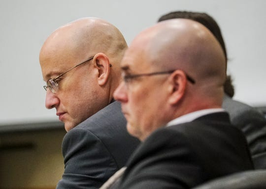 Mark Sievers listens to closing arguments by the prosecution during his trial on Wednesday Dec, 4, 2019. Sievers is charged in the murder of his wife Dr. Teresa Sievers.