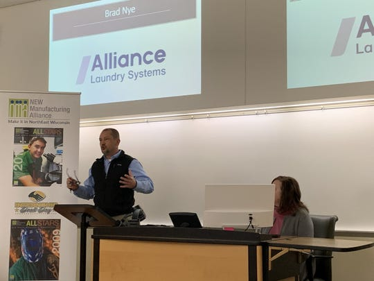 Brad Nye, vice president of manufacturing of Ripon-based Alliance Laundry Systems, talks about plant modernization and their expansion to Manitowoc.