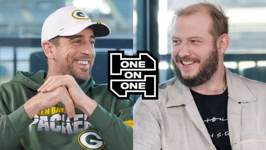 "Aaron Rodgers and Justin Vernon of Bon Iver sat down together at Lambeau Field for a new episode of GQ Sports' ""One On One"" series."