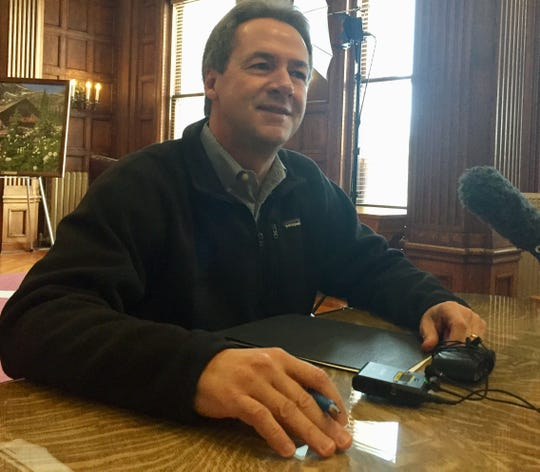 Gov. Steve Bullock meets Wednesday in Helena with Montana reporters after announcing Monday he was halting his 2020 campaign for president.