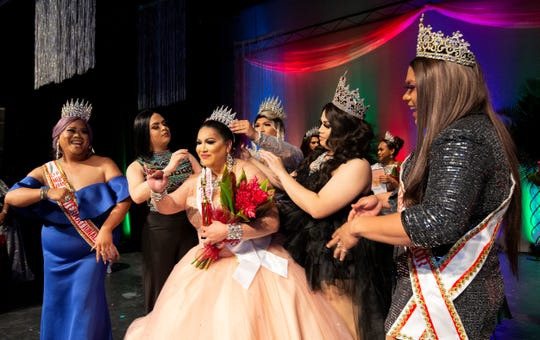 Coronation of Miss Queen of the Pacific 2019 Reena Diosa on Nov. 30 at the University of Guam Fine Arts Theatre.