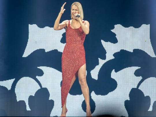 Celine Dion performs Tuesday at Bankers Life Fieldhouse.