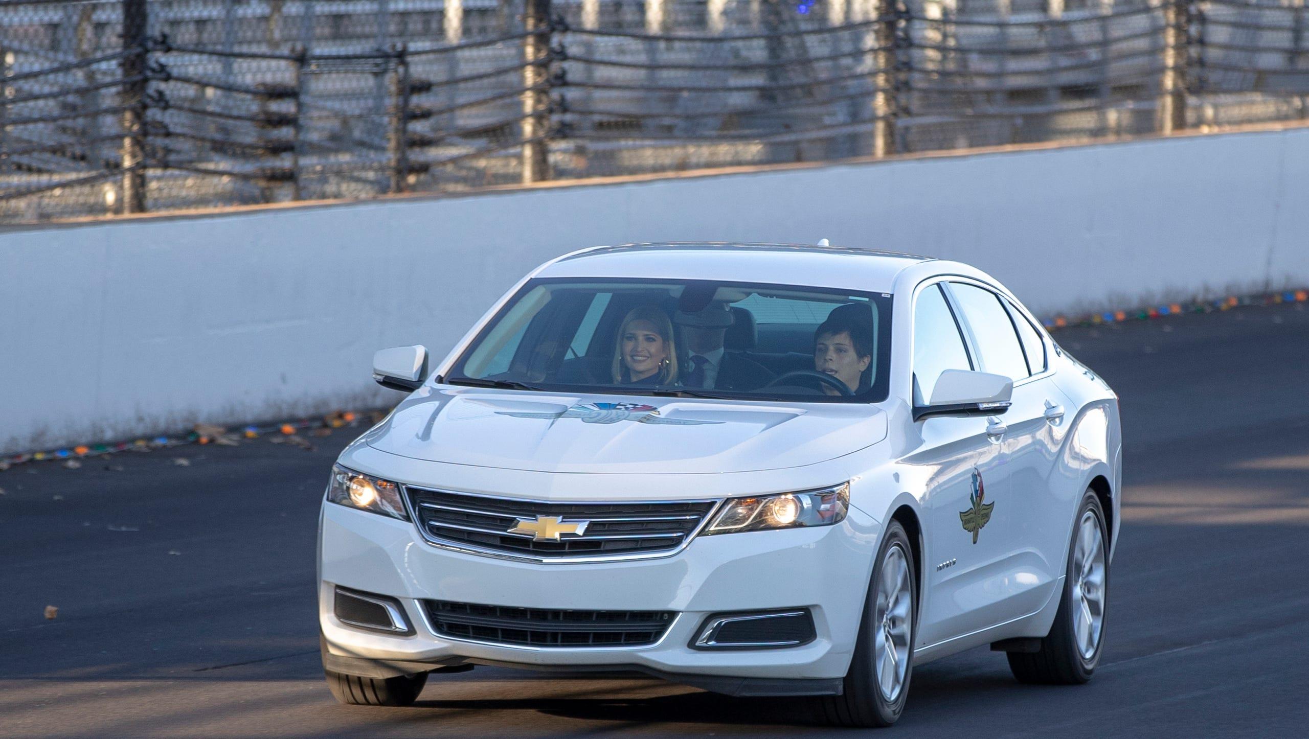 نتيجة بحث الصور عن Ivanka Trump tours Indianapolis Motor Speedway