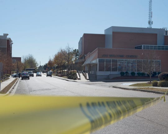Jackson State University officials say a campus lockdown was lifted Wednesday afternoon following a shooting nearthe edge of campus in a parking lot on the1100 block of Lynch Street,leaving one man wounded just after 11 a.m.  Jackson, Miss. Dec. 4, 2019.