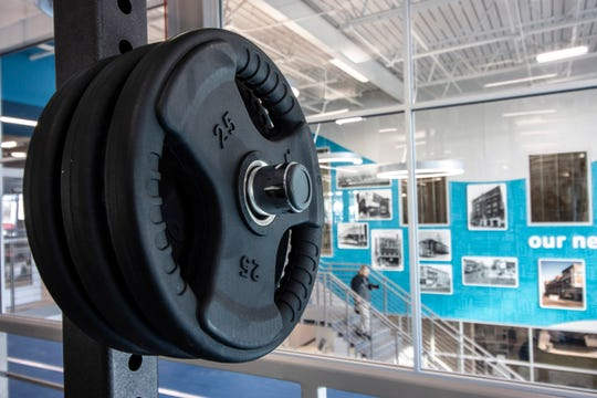 A wide variety of cardio and strength equipment can be found throughout the Healthy Living Center at the YMCA on West Broadway.