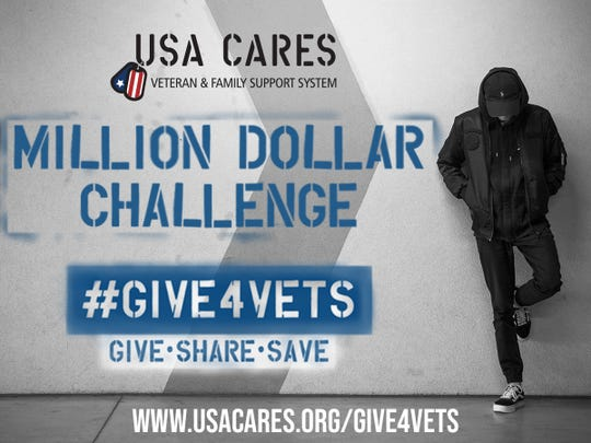 USA Cares is challenging people to give for vets.