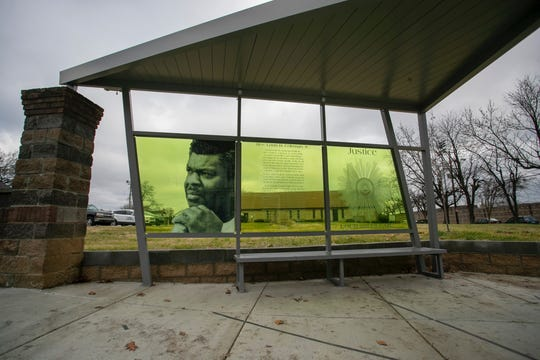 The bus stop at S. 15th Street and W. Muhammad Ali Boulevard pays tribute to the late Rev. Louis Coleman, a civil rights activist who fought tirelessly against injustice in the city and across Kentucky.